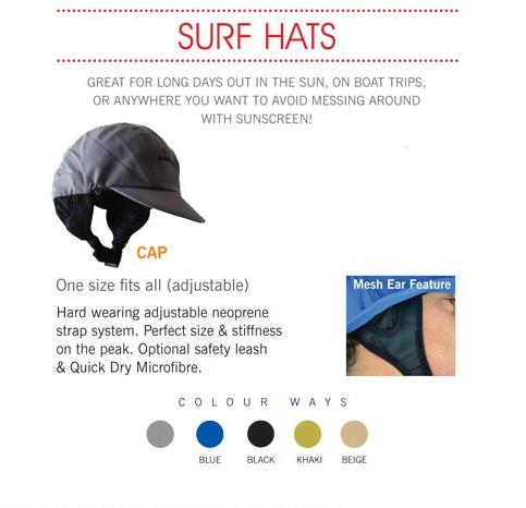 כובע גלישה של חברת Balin . לכובע רצועת קשירה מיוחדת וגמישה לשמירה על הכובע. הכובע מגיע במידה אחת מתכוננת מתייבש במהירות