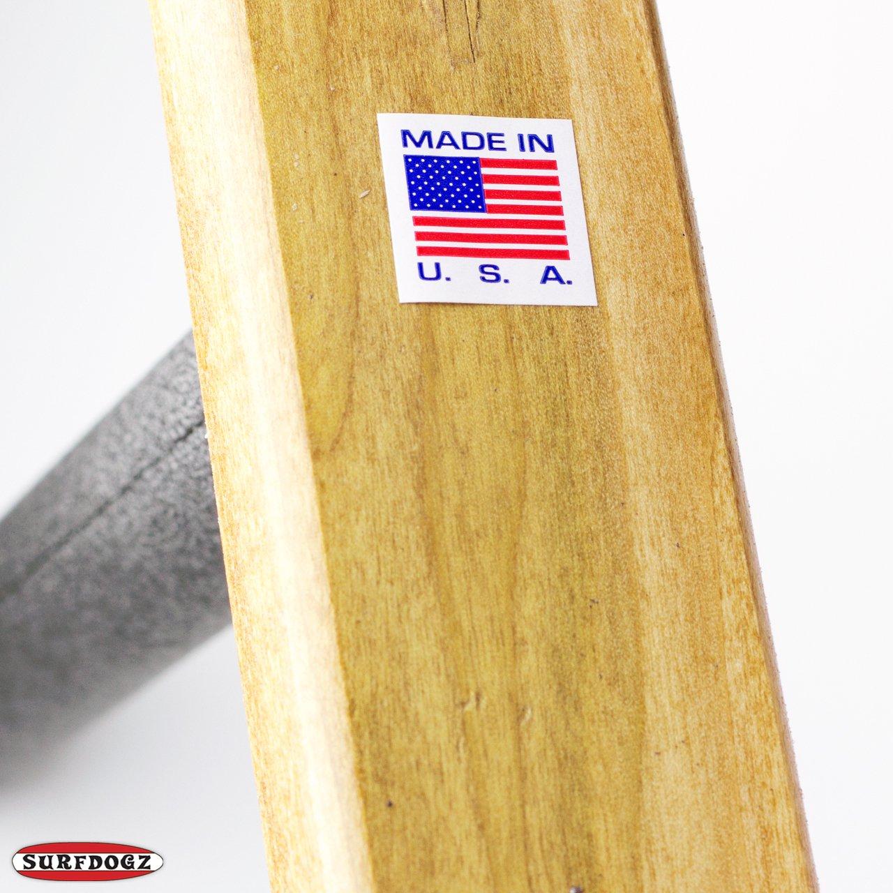 מתקן תלייה ל 2 גלשנים של חברת Surfdogs. המתקן מיוצר בארה״ב, קל להרכבה.