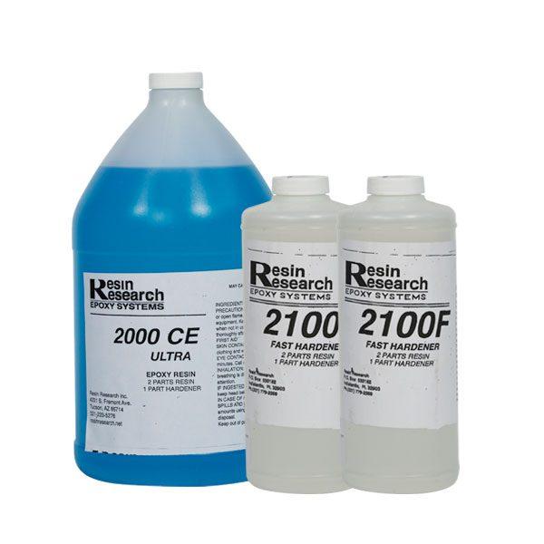 """ליטר אפוקסי Resin Reserch לציפוי גלשנים. החומר מיוצר בארה""""ב במיוחד עבוד תעשיית הגלשנים וברמה הגבוהה ביותר."""