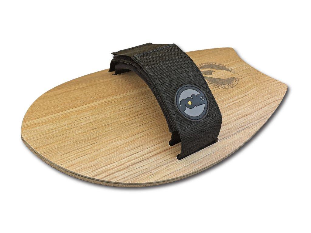ה-Woodie Pocket-Rocket מתלבש על כף היד לגלישת Bodysurfing. מגיע עם זנב round. עשויי מעץ וחתוך בלייזר. הקונקייב בתחתית נותן הרבה מהירות.