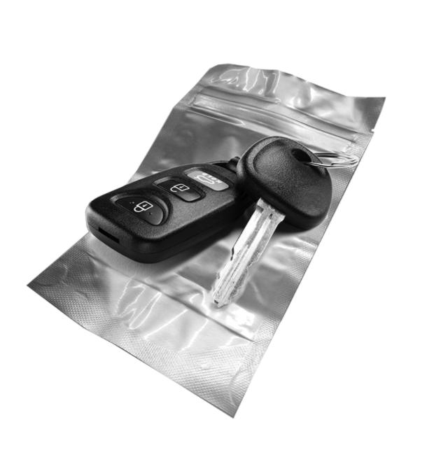 שקית יעודית למפתח, מונעת תדר לפתיחת הרכב עם מפתח חכם